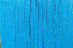 Panneau en bois bleu de fond abstrait Image libre de droits