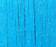 Panneau en bois bleu de fond abstrait Photos libres de droits