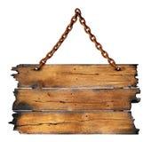 Panneau en bois carbonisé Photos libres de droits