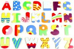 Panneau en bois de puzzle d'alphabet d'ABC Image libre de droits