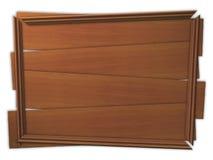 Panneau en bois encadré cassé Photo stock