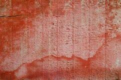 Panneau en bois rouge Photo stock