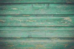 Panneau en bois vert de vintage Image libre de droits