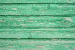 Panneau en bois vert de vintage Photos libres de droits