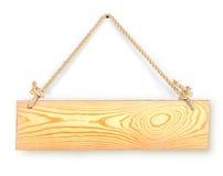 Panneau en bois vide de signe avec l'espace pour le texte Image libre de droits
