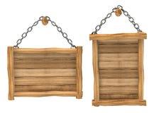 Panneau en bois vide s'arrêtant, réseau, d'isolement Image libre de droits