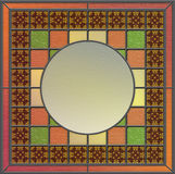 Panneau en verre souillé avec l'espace vide pour le contenu Photographie stock