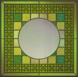 Panneau en verre souillé avec l'espace vide pour le contenu Photographie stock libre de droits