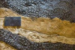 Panneau entièrement fait de différents genres de bois photos libres de droits
