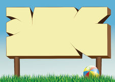 Panneau et boule d'affiche Image libre de droits