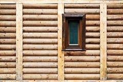 Panneau et fenêtre en bois Photo stock
