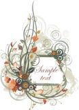 Panneau floral de vecteur Photographie stock libre de droits