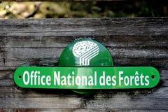 Panneau français de l'ONF Image stock