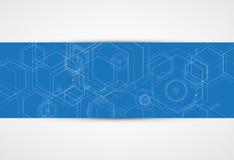 Panneau futuriste abstrait b de technologie d'Internet d'ordinateur de circuit Photos libres de droits