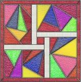 Panneau géométrique de fenêtre en verre teinté Photo stock