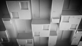 Panneau gris de techno futuriste avec les groupes cubiques 3D rendre illustration de vecteur