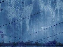 Panneau grunge bleu Photos libres de droits
