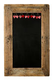 Panneau heureux Recl de menu de restaurant de tableau d'amour de Saint-Valentin Photographie stock libre de droits