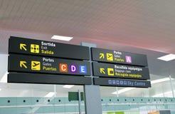Panneau-incrément à l'aéroport photo stock