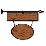 Panneau indicateur en bois Photo stock