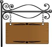 Panneau indicateur en bois illustration libre de droits