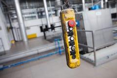 Panneau industriel de bouton Photo libre de droits