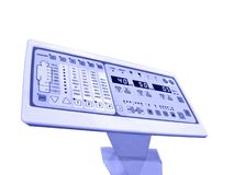Panneau neuf de commande numérique, essai de patient d'anatomie Images libres de droits