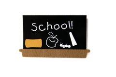 Panneau noir d'école images stock