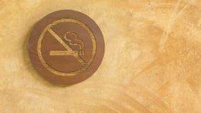Panneau non-fumeurs en bois de connexion photo libre de droits