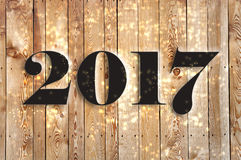 Panneau 2017, nouvelle année Image stock