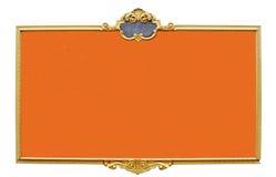 Panneau orange Images stock