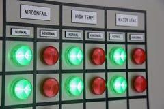 Panneau ou switchbox pour le contrôle des climatiseurs sur le constr Photographie stock libre de droits