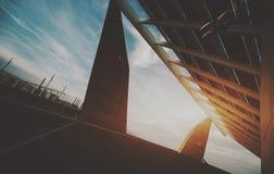 Panneau photovoltaïque de pointe photographie stock