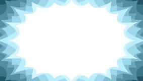 Panneau promotionnel instantané de starburst de ventes d'hiver dans des couleurs de glace illustration libre de droits