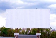 Panneau-réclame annonçant le signe Photo stock