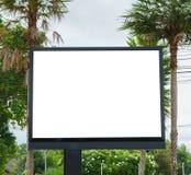 Panneau-réclame avec l'écran vide Photographie stock libre de droits