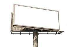 Panneau-réclame blanc Photos libres de droits