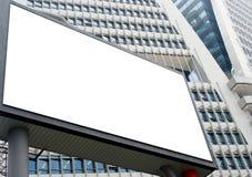Panneau-réclame blanc Photographie stock libre de droits