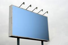 Panneau-réclame blanc Photographie stock