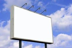 Panneau-réclame blanc Image libre de droits