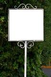 Panneau-réclame blanc photos stock