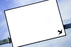 Panneau-réclame blanc dans l'omnibus Photographie stock libre de droits