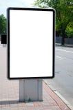 Panneau-réclame blanc dans la ville Image libre de droits