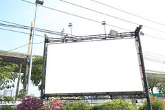 panneau-réclame blanc dans la ville Images libres de droits
