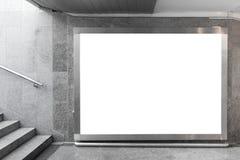 Panneau-réclame blanc dans le hall Photographie stock