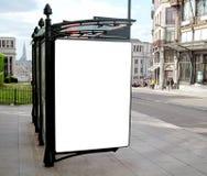 Panneau-réclame blanc extérieur Photo libre de droits