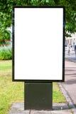 Panneau-réclame blanc Halmstad 01 Images libres de droits