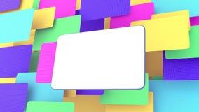 Panneau-réclame blanc multicolore illustration de vecteur
