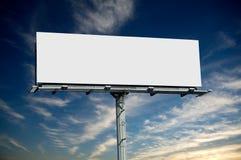 Panneau-réclame commercial blanc Photo libre de droits