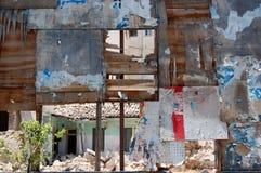 Panneau-réclame déchiré en lambeaux Image libre de droits
